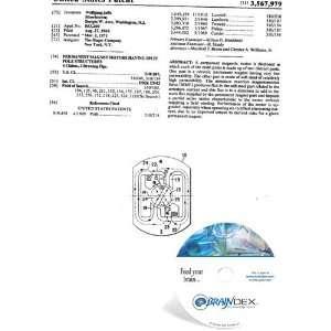 NEW Patent CD for PERMANENT MAGNET MOTORS HAVING SPLIT POLE STRUCTURES
