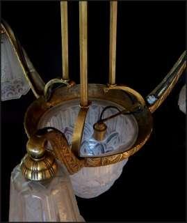 original high style art deco chandelier by pierre manyadier paris