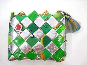 DESIGNER Woven Recycled Paper Coin Purse