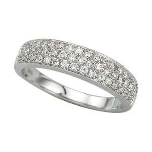 14K White Gold 1/2 ct. Pave Set Diamond Ring Katarina Jewelry