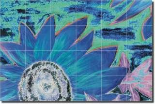 McCrea Sunflower Flower Abstract Ceramic Tile Mural Art