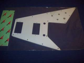 Pickguard For 70s Kalamazoo Made Gibson Flying V, 3 Ply   WHITE