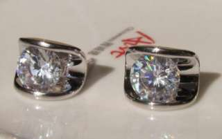 18K white gold GP swarovski crystal earring 37