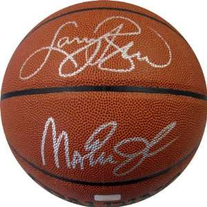 Magic Johnson Autographed Ball   & Larry Bird Indoor Outdoor