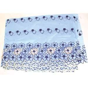 Light Blue Lace Flower Fabric  15 Yards