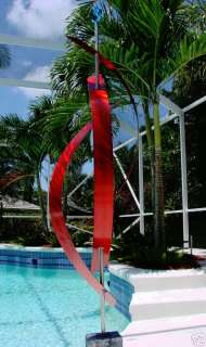 Outdoor Freeform Metal Art Decor SculptureRed Centinal