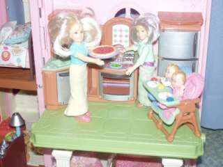 FAMILY DOLLHOUSE LOADED HUGE LOT FURNITURE PEOPLE PETS CAR