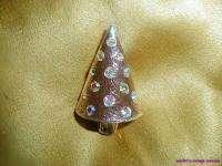 Lia Frosty Pink Metal Aurora Borealis Crystal Geometric Christmas XMAS