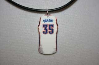 Kevin Durant Oklahoma City Thunder OKC Jersey Necklace Charm