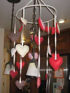 Pottery Barn Kids Valentine Hanging Hearts Mobile New