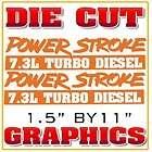 New 7.3 Ford Powerstroke Window Decal Turbo Diesel Grap
