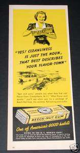 1939 OLD MAGAZINE PRINT AD, BEECH NUT GUM, ITS A GOOD HABIT