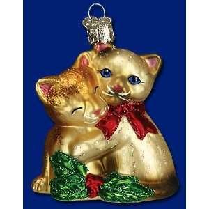 Mercks Family Old World Christmas glass kitty love