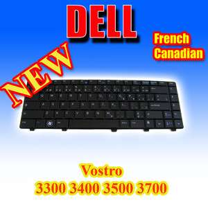 New Genuine OEM DELL Keyboard French Canadian Vostro 3300 3400 3500