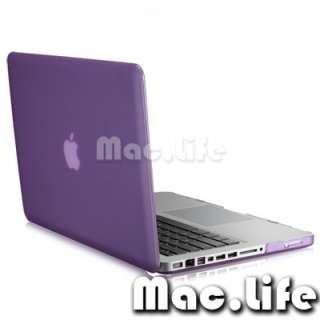 NEW Rubberized PURPLE Hard Case Cover for Apple Macbook PRO 15 (A1286