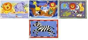 LION ELEPHANT NOAHS ARK ZEBRA SAFARI KID BABY THROW RUG
