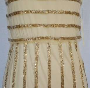 Embellished Dress 4 UK 8 NWT Gold Sequin Seen on Nina Dobrev