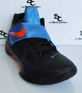 Nike Zoom KD.IV KD IV 4 black blue orange away mens basketball shoes