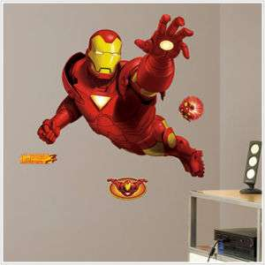 New Marvel Heroes Giant IRON MAN Wall Stickers Decals 034878834641