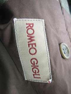 ROMEO GIGLI Mens Green Plaid Blazer Jacket Coat 46 R
