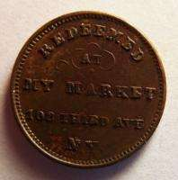 Civil War Store Card Token PH. J. Seiters Market New York NY