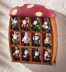Mushroom Collectible Wooden Display Curio (Gnomes not included)