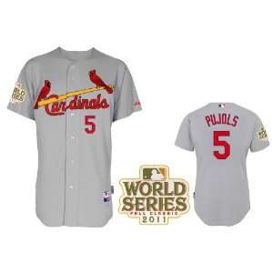 2012 New MLB St. Louis Cardinals #5 Pujols White/grey