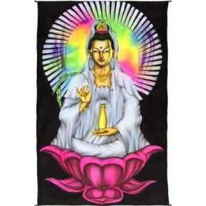 TAPESTRY   MULTICOLOR AIR BRUSH QUAN YIN (48 x 74 in): Home & Kitchen