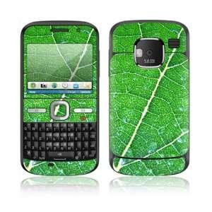 Nokia E5 E5 00 Decal Skin Sticker   Green Leaf Texture