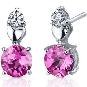 Gleaming Heart 2.00 Carats Pink Sapphire Round Cut Cubic