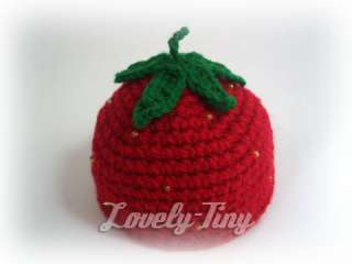 Blythe Crochet Strawberry Hat for Neo Blythe