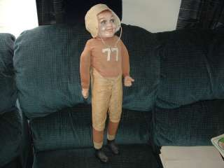 1930s Red Grange Doll Creepy Chucky Doll looking thing