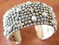 Native Navajo NAKAI Sterling Silver & Fresh Water Pearls Womens Cuff