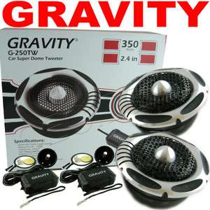 350 Watt Pair Super Silk Dome Tweeters 2.4in Gravity 50