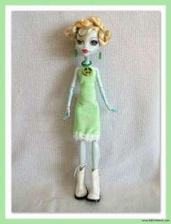 HANDMADE Custom Clothes Green Peace Fashion DRESS + JEWELRY 4 MONSTER