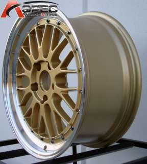 18X8/9 GOLD MACHINED LIP LM STYLE RIM WHEEL FIT BMW 3233 325 328 330