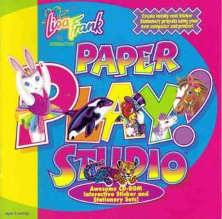 Lisa Frank Paper Play Studio PC CD kids create art greeting cards