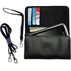 Black Purse Hand Bag Case for the Gigabyte GSMART G1317D with both a