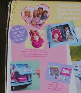 BARBIE NEW Happy Family Volvo Van SUV V70 Blue Vehicle Playset RARE
