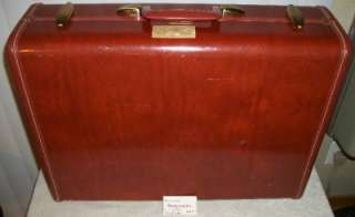 Vintage Samsonite Brown Hard Shell Suitcase Shwayder Bros with Key