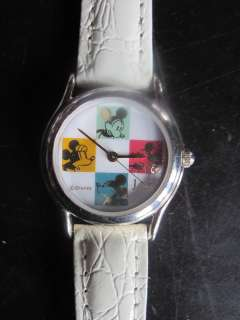 Adorable JAZ Mickey Mouse White Leather Band DISNEY Ladies Watch