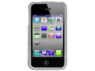 FACEPLATE HARD CASE COVER APPLE IPHONE 4 4S SILVER HEART PURPLE