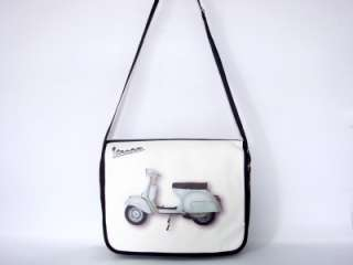White Vespa Retro Motorcycle 15 Laptop Notebook Computer Case Bag