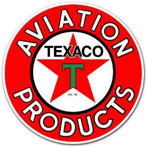 Texaco Aviation Products Gas Station Racing Car Bumper Sticker Decal 4