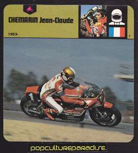 JEAN CLAUDE CHEMARIN France Honda Motorcycle PHOTO CARD