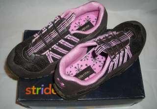 Stride Rite Girls Milena Brown/Begonia Leather Tennis Shoes 2.5 Medium
