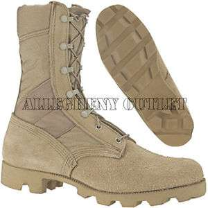 Mens Made in USA LEATHER Tan COMBAT WORK BOOT Hunting