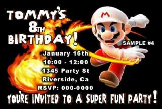 SUPER MARIO BROTHERS BIRTHDAY PARTY INVITATIONS FAVOR FAST AND FREE