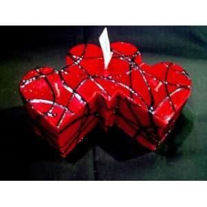 Valentines Day Triple Heart Candle