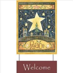 Standard Papyrus  Peace Welcome Sign   Beth Yarbrough